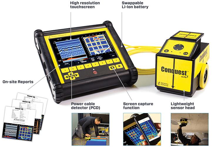 Conquest concrete scanning equipment