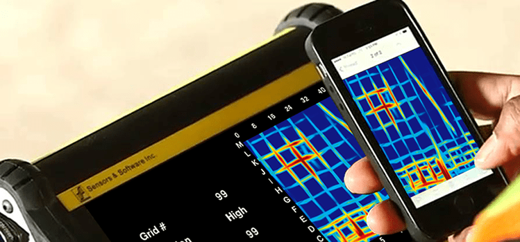 Sending concrete data from the DVL using a mobile