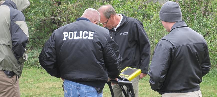 Police officers using FINDAR