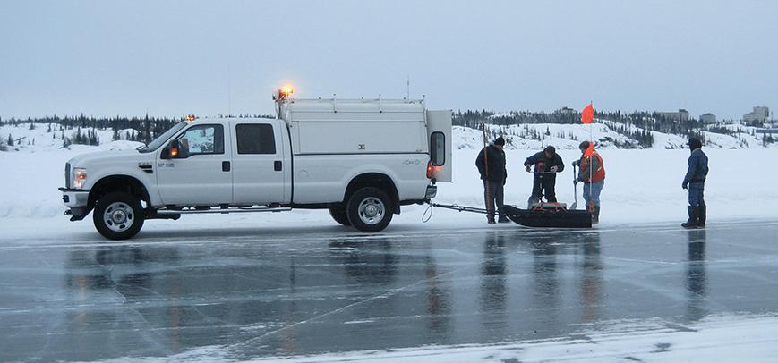 ice thickness measurement using gpr