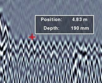 Conquest 100 GPR-display position and depth of targets with the touch of a finger