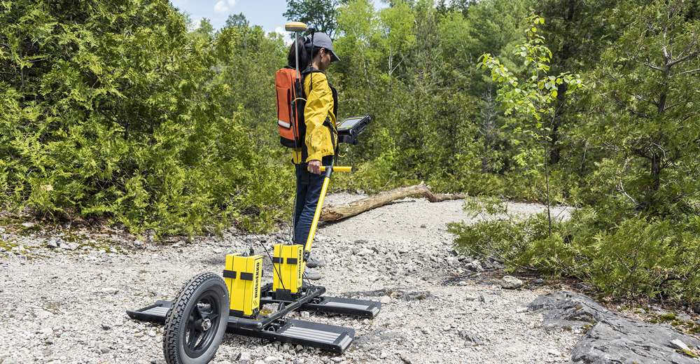 Using GPS elevation with GPR