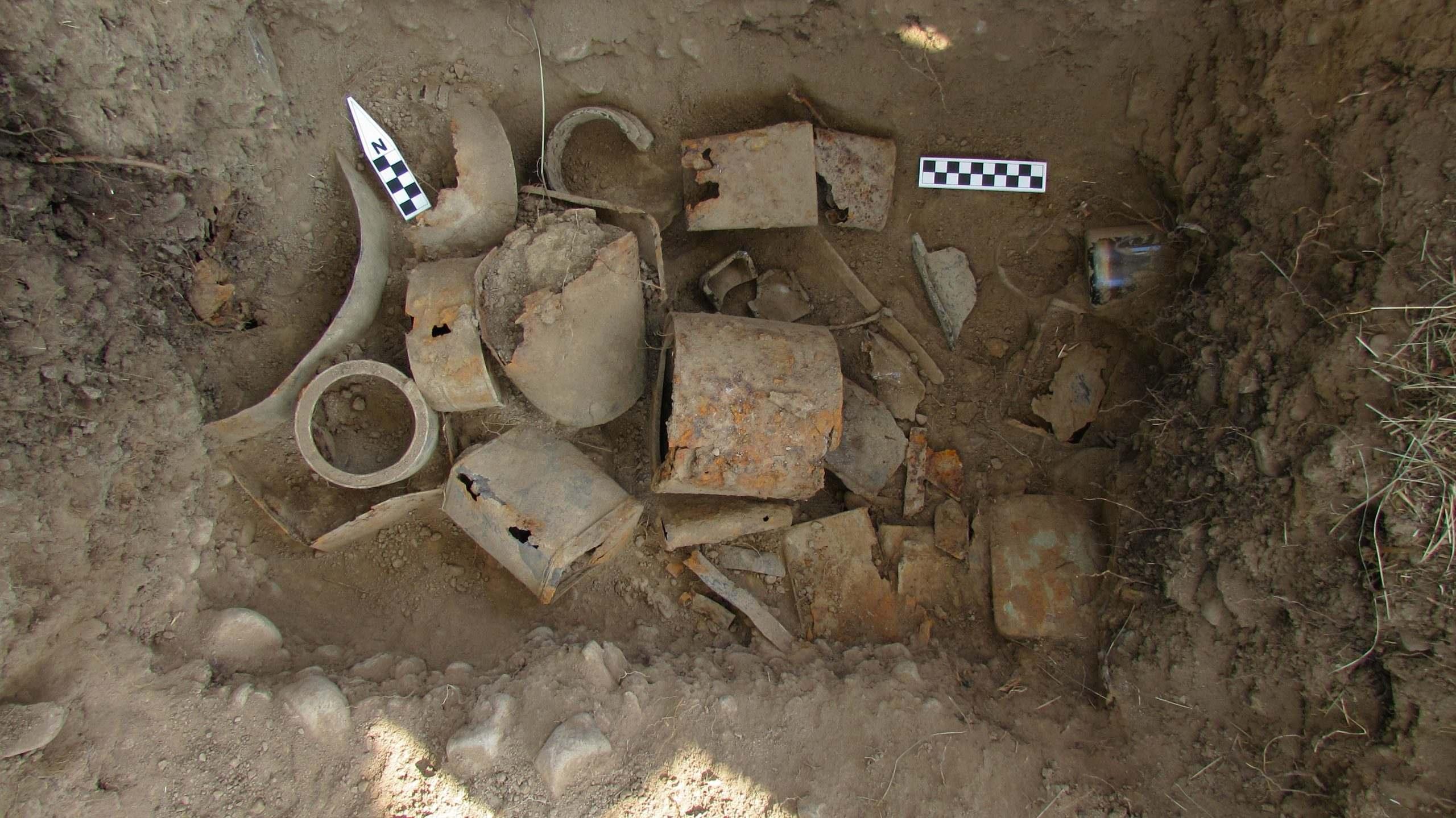 artifacts found underground using gpr scanning