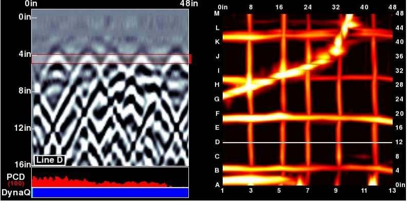 concrete wall slab grid scan